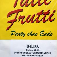 """Prichsenstädter Musikabend mit """"Tutti Frutti"""""""
