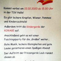 Kinderfasching in der TSV-Halle